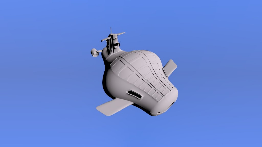 White submarine preview image 2