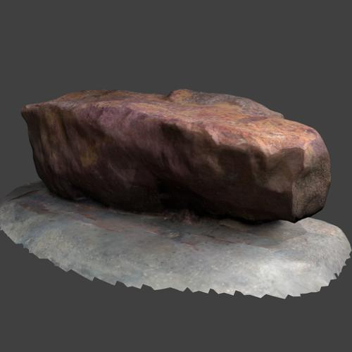 Scanned realistic rock (high poly) preview image
