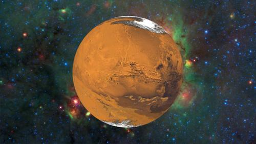 Mars Textured and Rotating in Space preview image