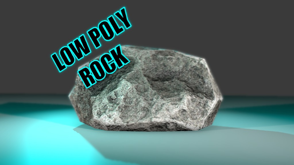 Low Poly Rock preview image 1