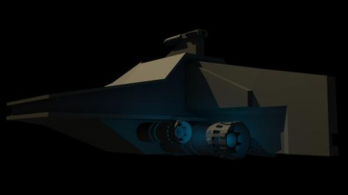 Star Wars Republic Acclamator Cruiser Lowpoly preview image