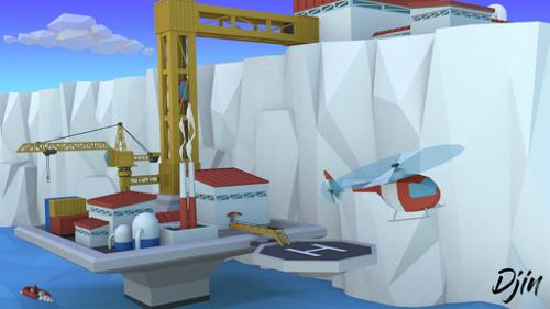 Low Poly Ice Shelf Platform preview image