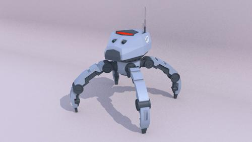 Low Poly Police Crawler Mech preview image