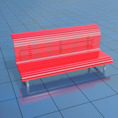 Urban Red Bench preview image