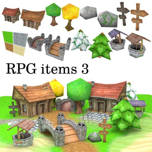 Low-Poly RPG Item Collection 3 preview image