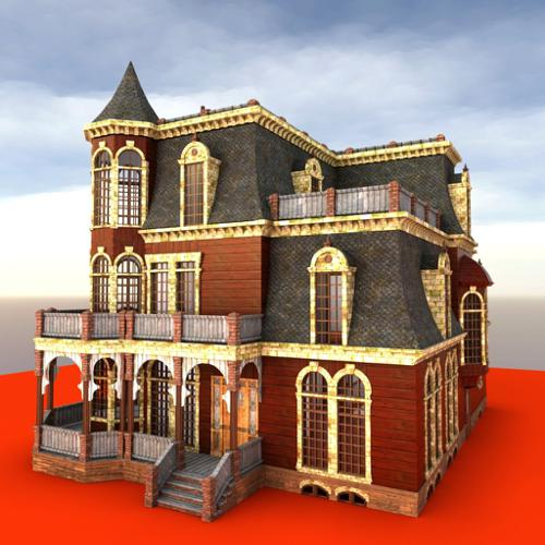 Victorian house with rooms preview image