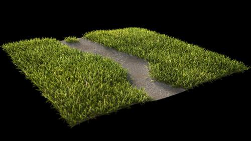 Realistic Grass Path (cycles) preview image