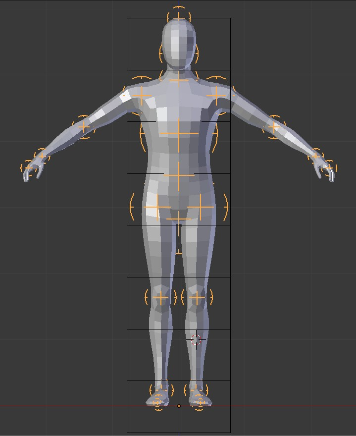 Adjustable Humanoid Basemesh preview image 1