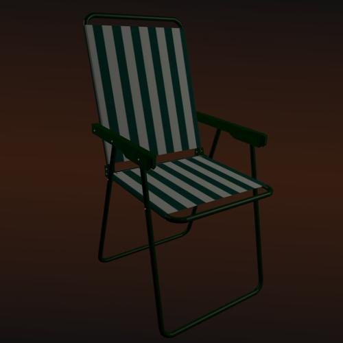 Deck Chair - Rigged and Foldable preview image