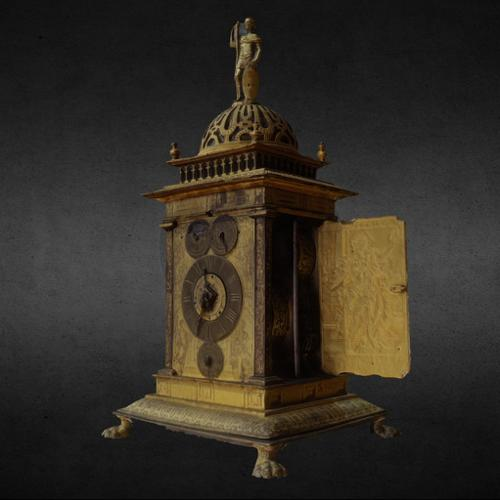 Table clock engraved with Allegories of the Liberal Arts preview image