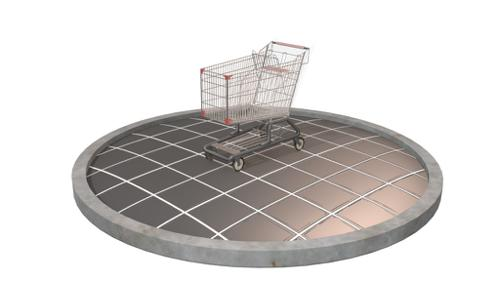 Low poly Shopping cart preview image