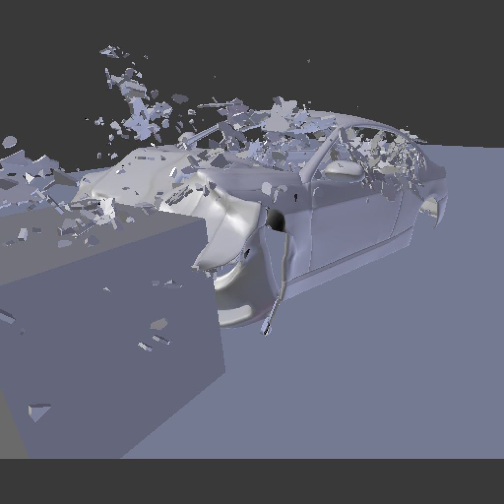 Fracture Modifier Bending Metal Car Demo File preview image 1