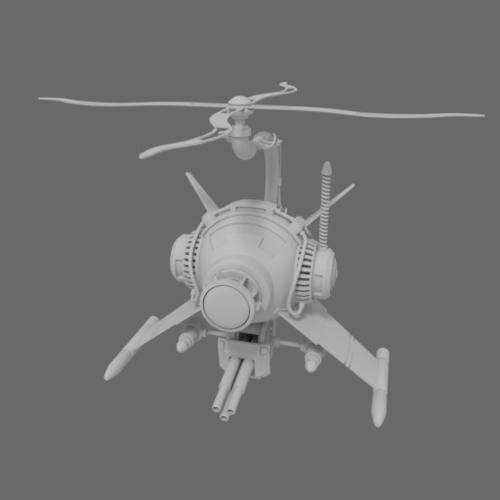 Steampunk Helicopter preview image