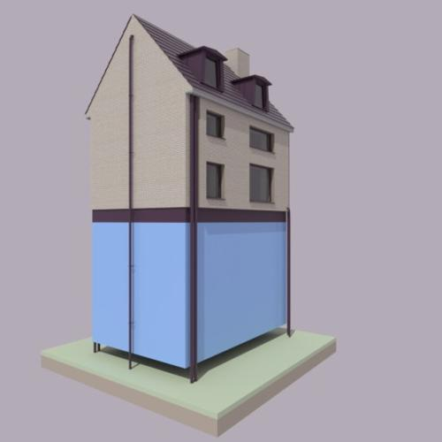 low poly house preview image