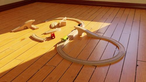 Train Toy Wood Set preview image