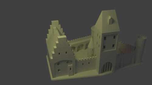 medieval castle (printable) preview image