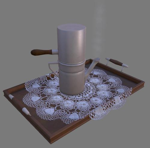 Old Coffemaker And Tray - animated preview image