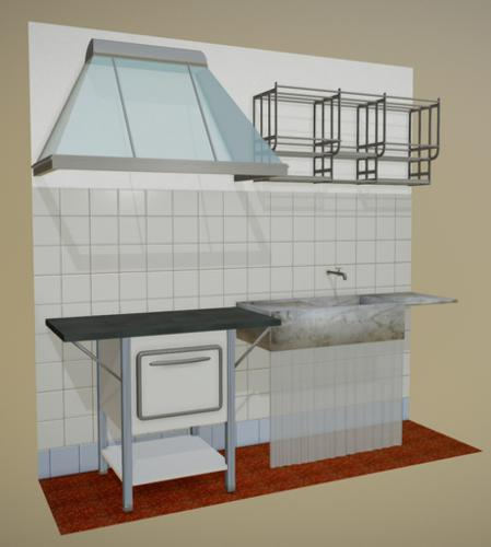 Stove, Sink, Dish drainer, Kitchen hood preview image