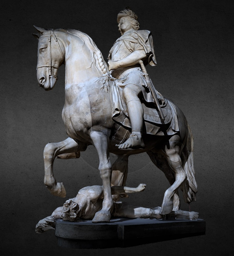 The equestrian statue of Kings Christan V preview image 1