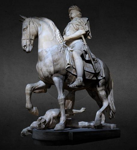 The equestrian statue of Kings Christan V preview image