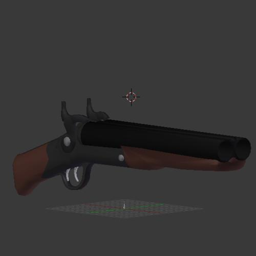 10ga Double-Barrel Sawed-off Shotgun preview image