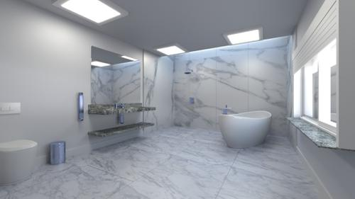 Marbled bathroom preview image
