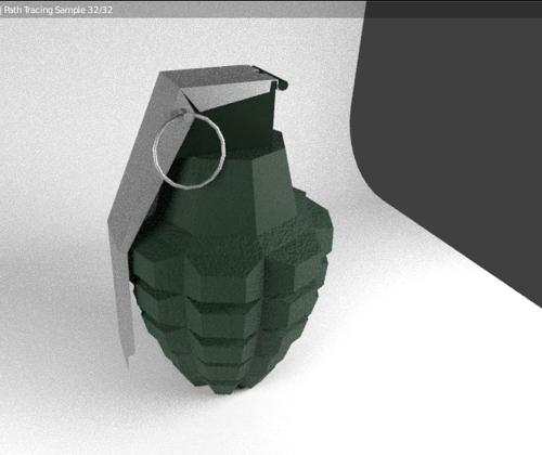 low poly grenade preview image