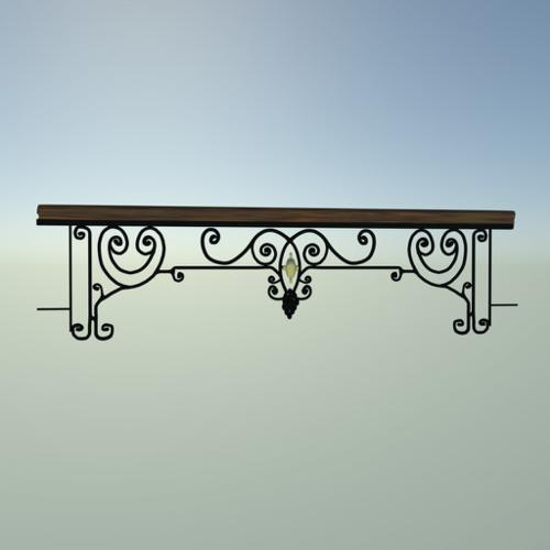 French Balcony Railing 1. (art nouveau) preview image