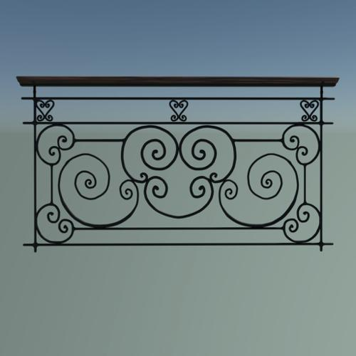 French Balcony Railing 2. preview image