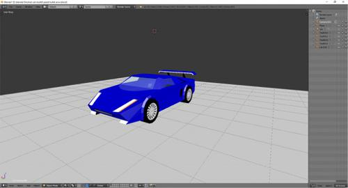 low poly race car game ready preview image