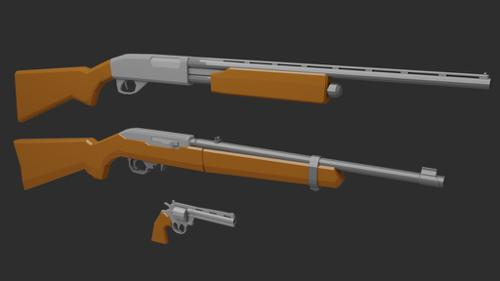 Low Poly Weapon pack preview image