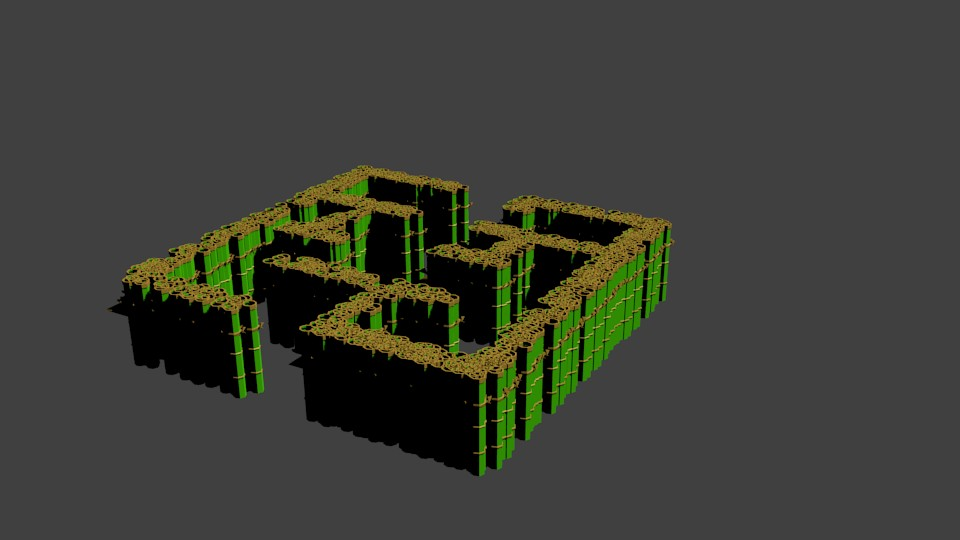 Maze Mapping asset game with Bamboo trees  preview image 1