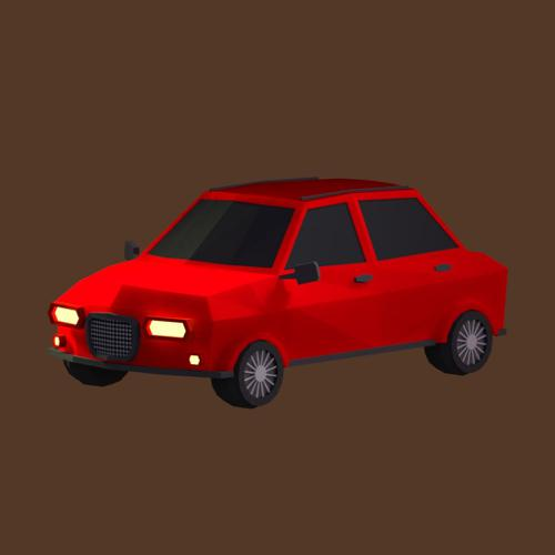 Low Poly Hatchback Car preview image
