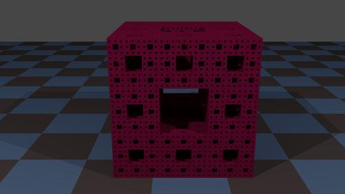 Menger Sponge, Four Level preview image