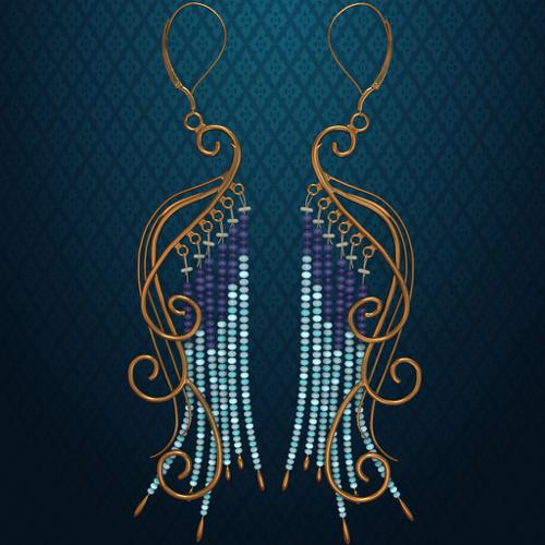 Peacock Earrings preview image