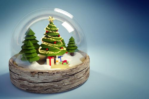Low Poly Christmas Ball preview image