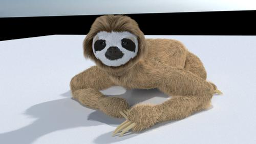 Sloth Simple Rigged preview image