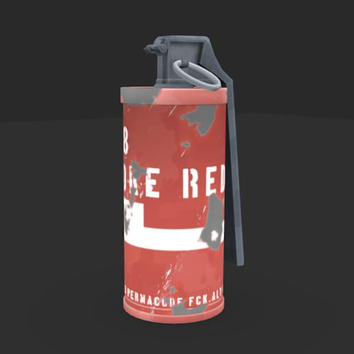Low poly smoke grenade preview image