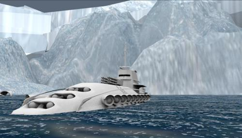 White Submarine preview image