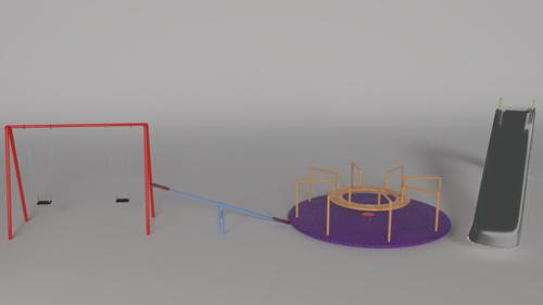 Park play equipment set preview image