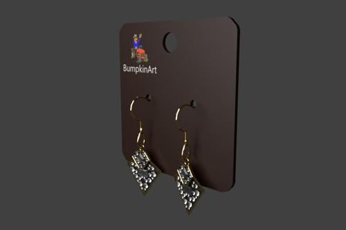 BumpkinArt Jewlery #1 - A pair of Earrings on a Display Card preview image