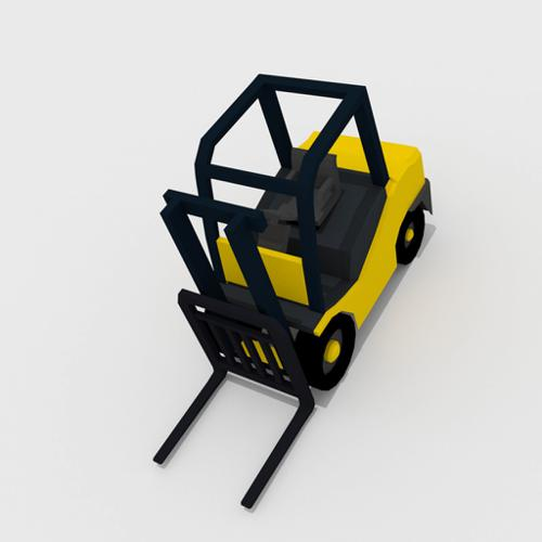 Basic Low Poly Fork-Lift preview image