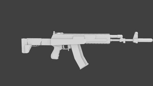 AK12 Lowpoly preview image