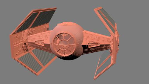 Darth Vader Red Tie Fighter preview image