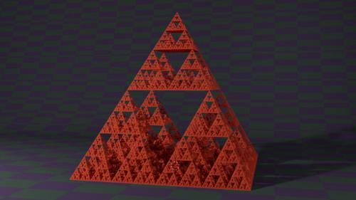 Sierpinski Gasket, Level Eight preview image