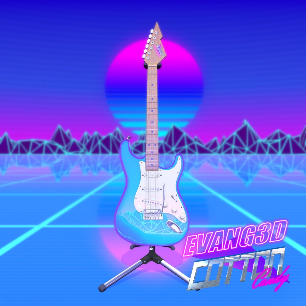 """Cotton Candy"" 80's Electric Guitar preview image 1"