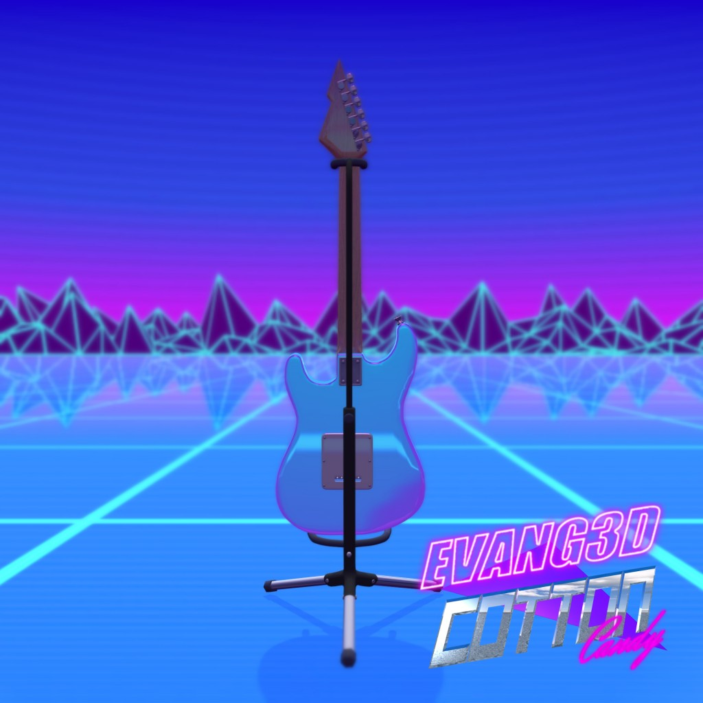 """Cotton Candy"" 80's Electric Guitar preview image 3"