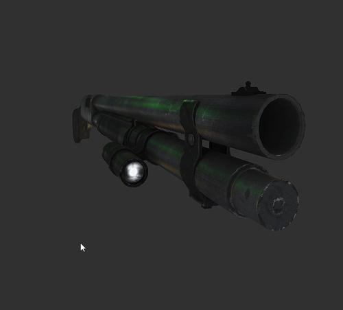 low poly remington shotgun preview image