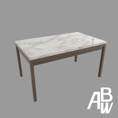 Marble Top Dining Table ( L150xW100xH75cm ) preview image