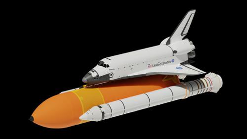 Space Shuttle Side Boosters And Fuel Tank preview image